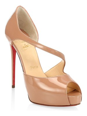 Christian Louboutin catchy two 120 patent peep toe pumps