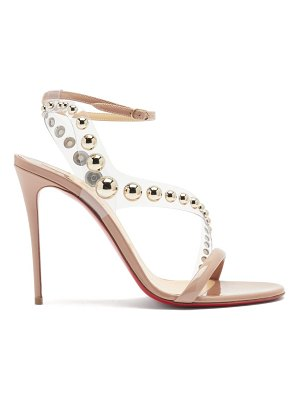 Christian Louboutin corinetta 100 pvc-strap patent-leather sandals