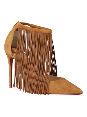 Christian Louboutin Courtain 100 Fringe Red Sole Pumps