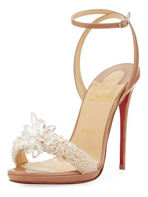 CHRISTIAN LOUBOUTIN Crystal Queen Embellished Sandal
