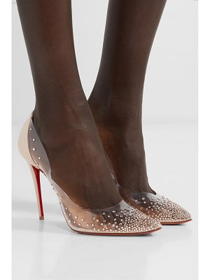 Christian Louboutin degrastrass 100 embellished pvc and leather pumps