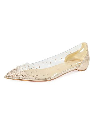 Christian Louboutin Degrastrass Vinyl Red Sole Flat