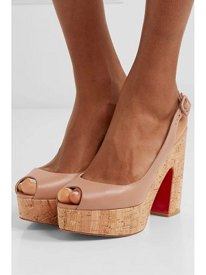 Christian Louboutin dona anna 120 leather slingback platform sandals