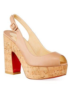 Christian Louboutin Donna Anna 120 Napa Red Sole Sandals