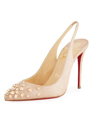 Christian Louboutin Drama Spike Red Sole Pumps