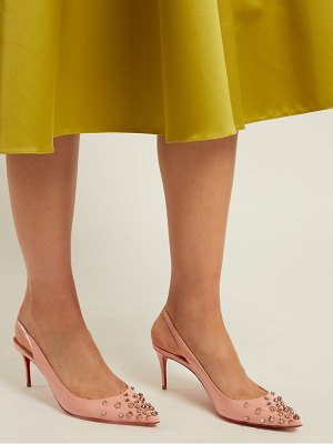 Christian Louboutin drama 70 stud embellished patent leather pumps