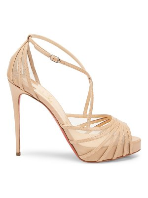 Christian Louboutin filamenta 120 leather peep toe sandals