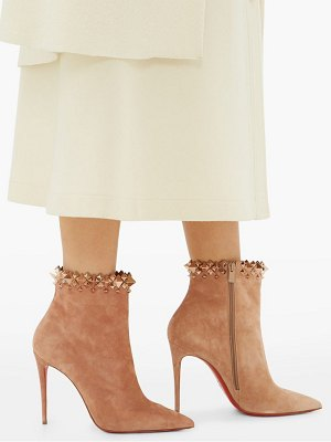 Christian Louboutin firmamma 100 studded-cuff suede boots