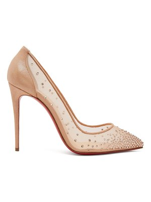 Christian Louboutin Follies Strass 100 mesh pumps