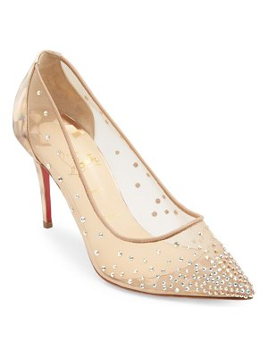 Christian Louboutin follies strass 85 embellished mesh pumps