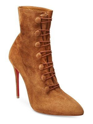 Christian Louboutin french tutu 100 suede booties