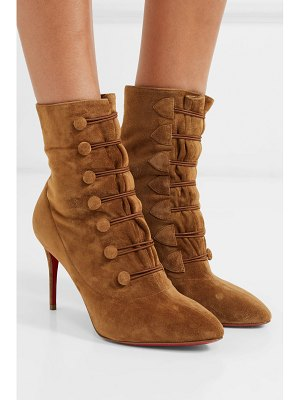 Christian Louboutin french tutu 85 suede ankle boots