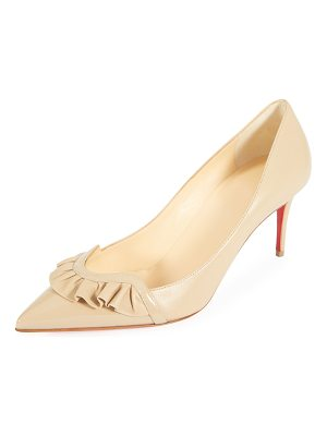 CHRISTIAN LOUBOUTIN Frou Mid Napa Red Sole Pump