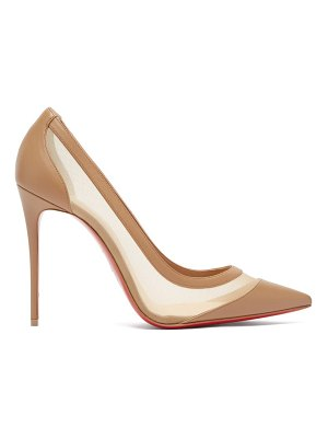 Christian Louboutin galativi 85 mesh-panelled suede pumps