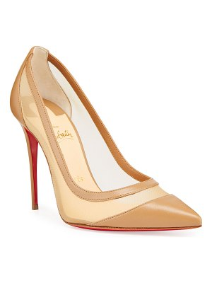 Christian Louboutin Galativi Mesh & Leather Pumps