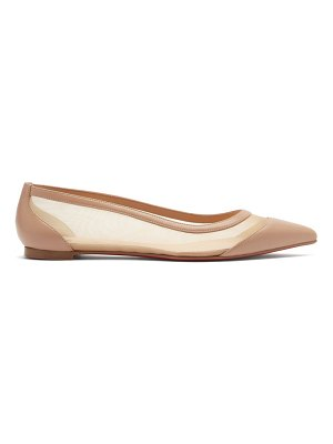 Christian Louboutin galativi mesh-panel leather ballet flats