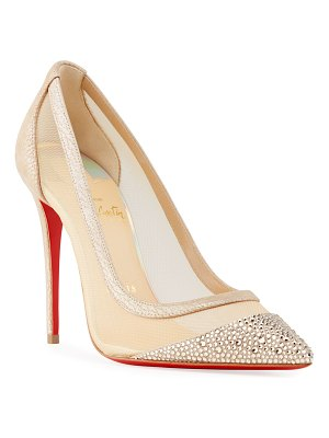 Christian Louboutin Galativi Studded Mesh Red Sole Pumps