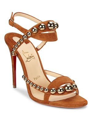 CHRISTIAN LOUBOUTIN Galleria Leather & Suede Sandals