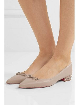 Christian Louboutin hall spiked leather point-toe flats