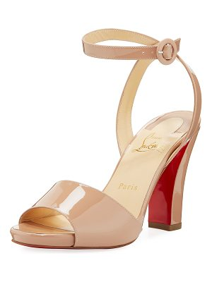 CHRISTIAN LOUBOUTIN Havana Forties Patent Red Sole Sandal