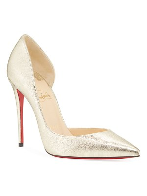 Christian Louboutin Iriza Metallic Red Sole Pumps