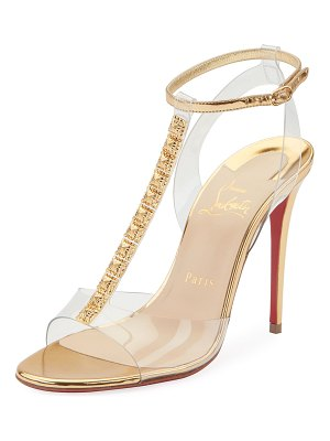 Christian Louboutin Jamais Assez 100 See-Through Red Sole Sandals