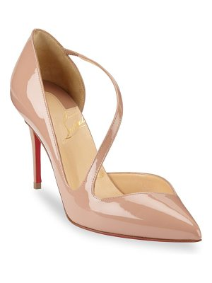 Christian Louboutin jumping 85 point toe patent leather pumps