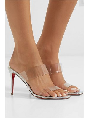 Christian Louboutin just nothing 85 pvc and metallic leather mules