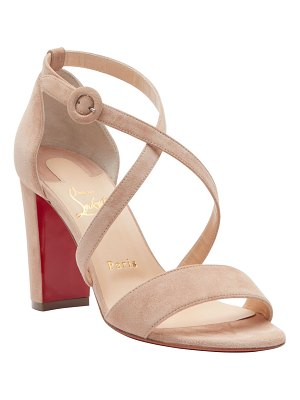 Christian Louboutin Loubi Bee Suede 85mm Red Sole Sandals