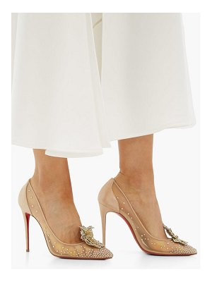 Christian Louboutin marenude 100 crystal embellished mesh pumps