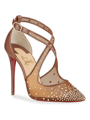Christian Louboutin Maria Strass Crisscross Red Sole Pumps