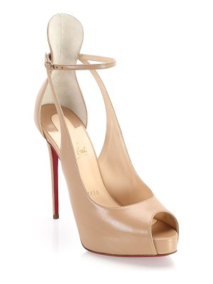 Christian Louboutin mascara peep toe pumps