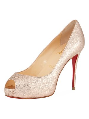 CHRISTIAN LOUBOUTIN New Very Prive 100mm Crackled Leather Red Sole Pump