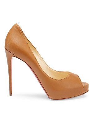 Christian Louboutin new very privé 120 leather peep toe pumps