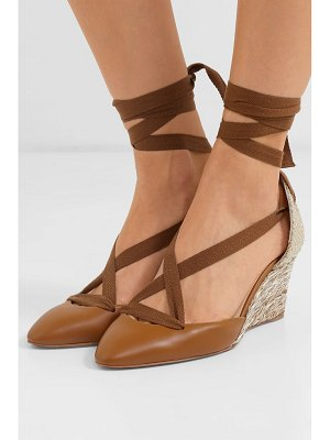 Christian Louboutin noemia 70 leather wedge espadrilles