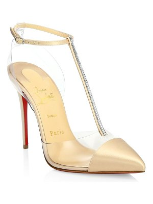 Christian Louboutin nosy 100 embellished satin t-strap pumps