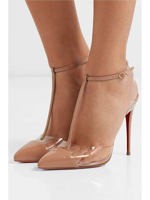 Christian Louboutin nosy 100 patent-leather and pvc pumps