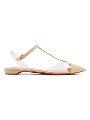 Christian Louboutin Nosy T-bar pointed-toe patent-leather flats