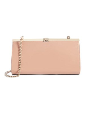 Christian Louboutin palmette patent leather frame clutch