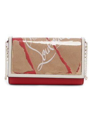 Christian Louboutin paloma kraft leather clutch