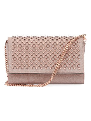Christian Louboutin Paloma Mini Glitter Spikes Clutch Bag