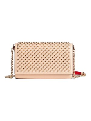 Christian Louboutin paloma spiked calfskin leather clutch