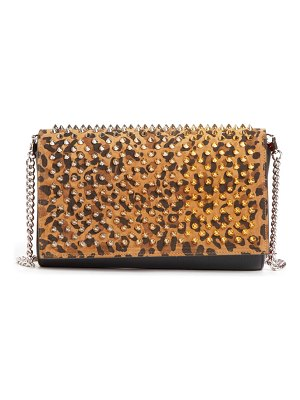 Christian Louboutin paloma studded calfskin leather clutch