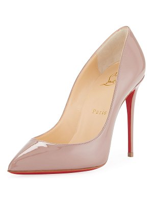 Christian Louboutin Patent Pointed-Toe Red Sole Pump