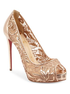 CHRISTIAN LOUBOUTIN Peep Toe Slip-On Pumps