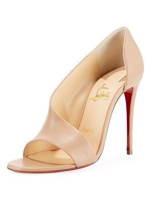 Christian Louboutin Phoebe Asymmetric Leather Red Sole Pumps