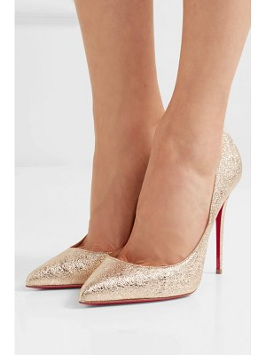 Christian Louboutin pigalle follies 100 metallic crinkled-leather pumps