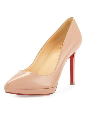 Christian Louboutin Pigalle Plato Patent Red Sole Pump