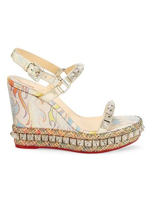Christian Louboutin pira ryad studded platform wedge sandals