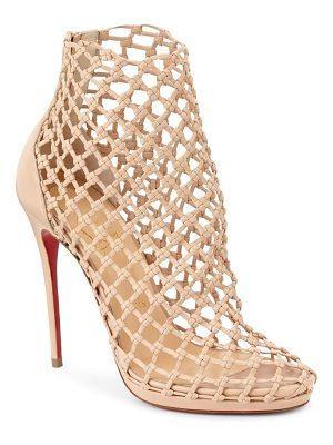 CHRISTIAN LOUBOUTIN Porligat 120 Woven Leather Booties
